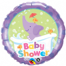 "Baby Shower Elephant Foil Balloon (18"") 1pc"